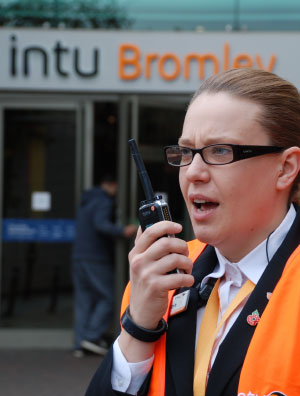 woman in Bromley on two way radio